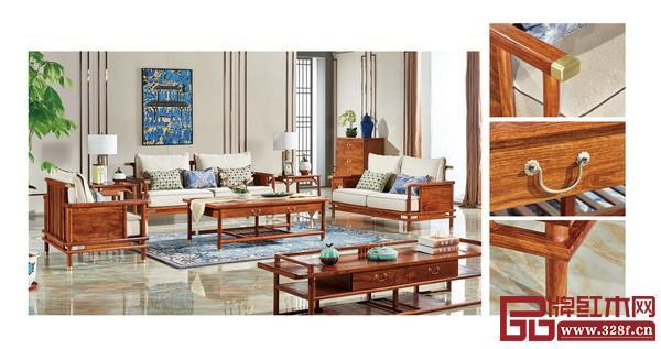 匠王亚博体育下载苹果刺猬紫檀《传承沙发》从传统的设计风格中释放,展现自然美感