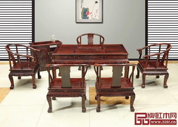 天勤红木——金边茶台