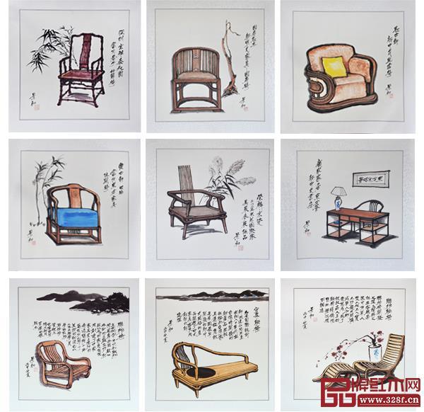 胡景初部分书画作品展示