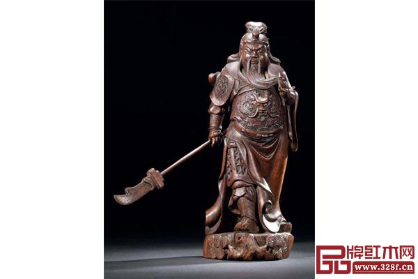 莆田木雕《关公像》