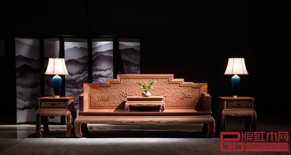 中山市金隆千赢国际入口家具有限公司 名称:《百福雕祥云八宝沙发》