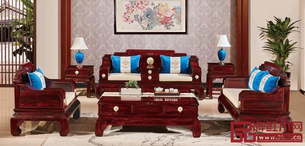 中山市鸿韵千赢国际入口家具有限公司 名称:《花好月圆沙发》