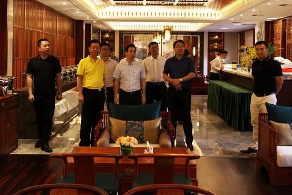 湖南省郴州市、桂阳县领导一行莅临国寿亚博体育下载苹果参观考察