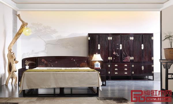 """养生耐用不是亚博体育下载苹果床的唯一卖点,美观设计也成为一种良好体验(红宝轩""""大明雅韵""""卧房系列)"""