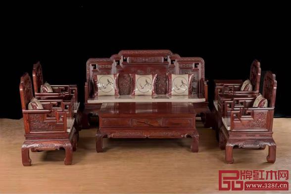 万盛宇亚博体育下载苹果东非酸枝国色天香123沙发、餐台、2米电视柜 15件套52800元