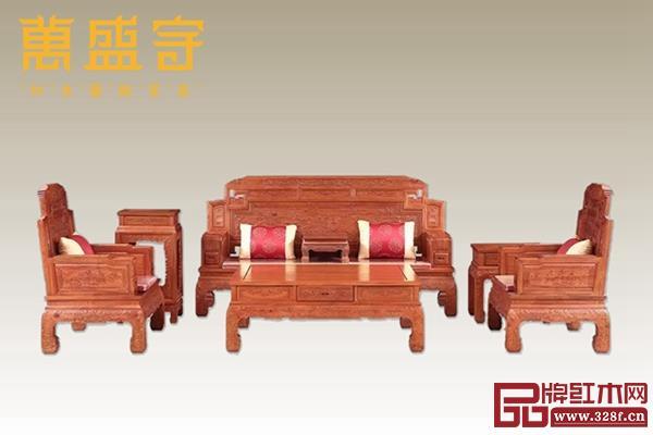 缅甸花梨沙发、餐台、电视柜等15件套低至68800元