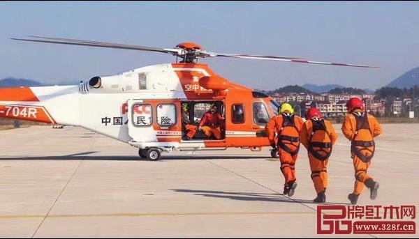 横店通用机场,现场直升机作业