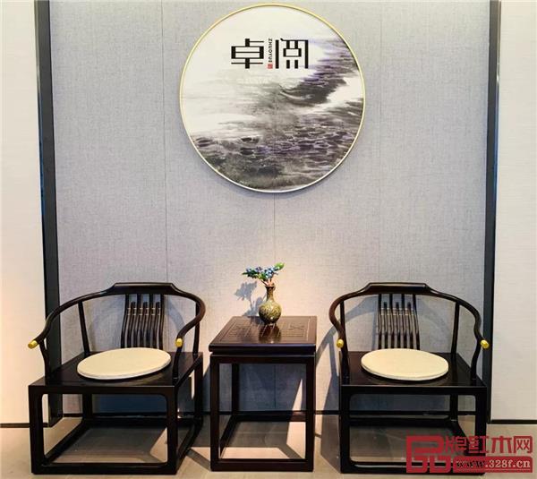 卓阅新中式休闲椅