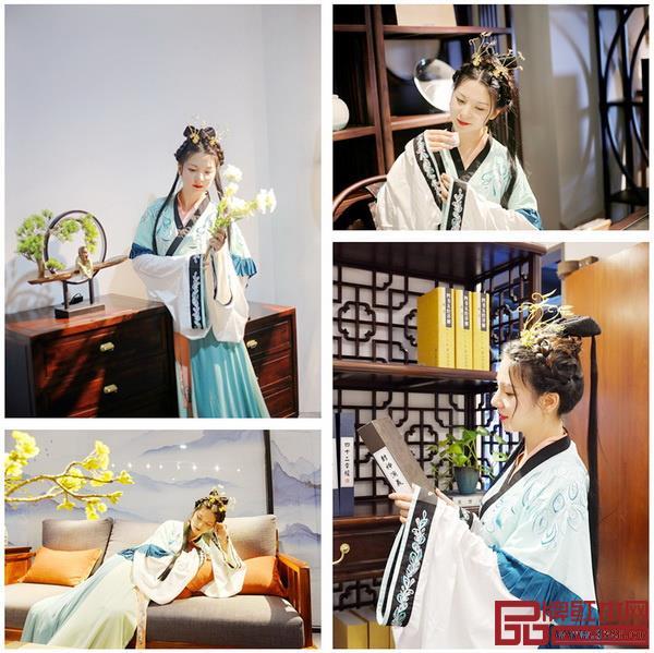 汉服遇上红木家具,不仅是视觉的享受,更是中国传统文化的精彩对话