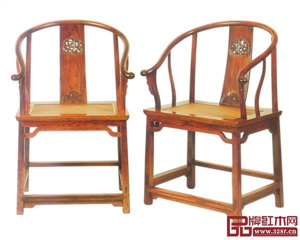 清早期黄花梨鱼化龙纹圈椅,选自伍嘉恩《明式家具二十年经眼录》