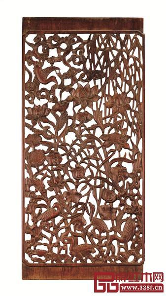 清早期黄花梨一路连科一甲传胪纹隔扇花板,中贸圣佳国际拍卖有限公司,2015年11月拍卖