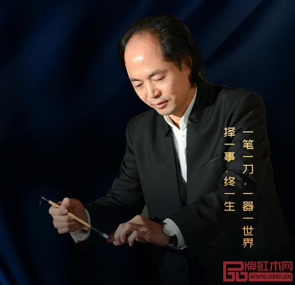 中国木雕艺术大师、中国传统工艺大师吴腾飞