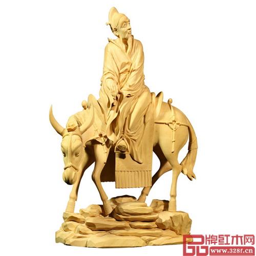 林庆财木雕作品——黄杨木雕《仙道》,该作品现收藏于中国国家博物馆