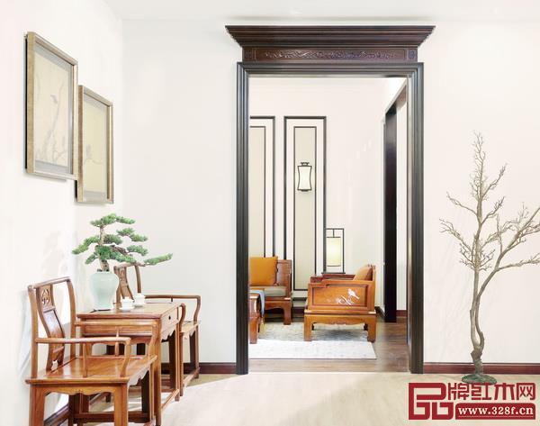 戴为千赢国际入口中式家居空间,犹如苏式园林般意境高远