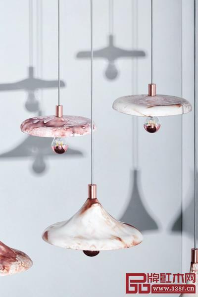 咖啡瓷吊灯