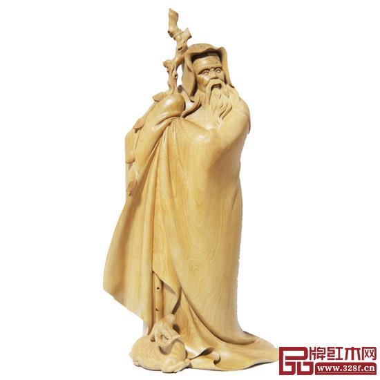 林庆财大师木雕作品——黄杨木雕《苏武牧羊》