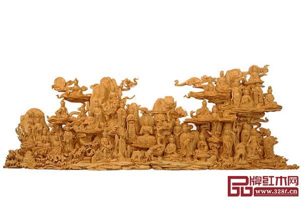 林庆财大师木雕作品——黄杨木雕《三十三观音》