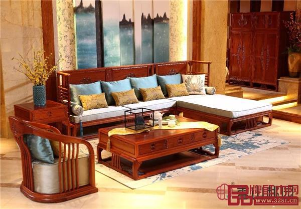 香山桃园·巴花《烟柳画桥转角沙发》