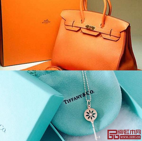 爱马仕橙与蒂凡尼蓝 品牌色效应突出