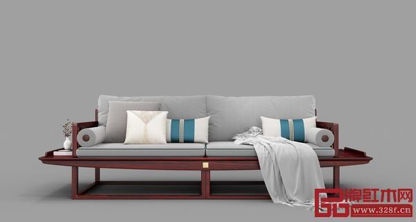 顺泰轩·书香门第的承道沙发 采用大热的莫兰迪色调 将气质美感发挥极致