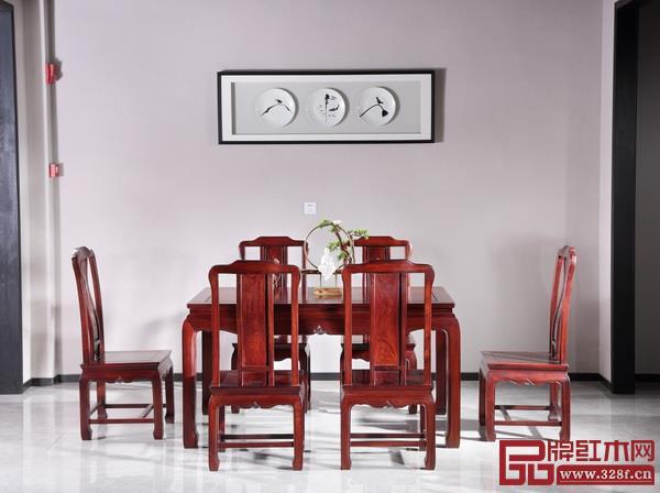 东邦红木国标红酸枝绒毛黄檀餐台