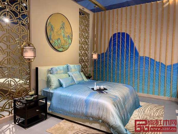中国山水画的配色被应用在家居中