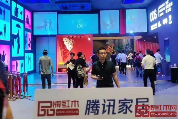 《品牌千赢国际入口》与腾讯家居千赢国际入口特派记者在上海家具展带来报道
