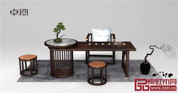 卓阅新中式茶台