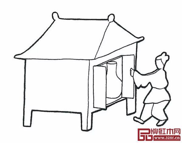 图2辽宁辽阳棒台子屯东汉墓壁画中的汉代橱