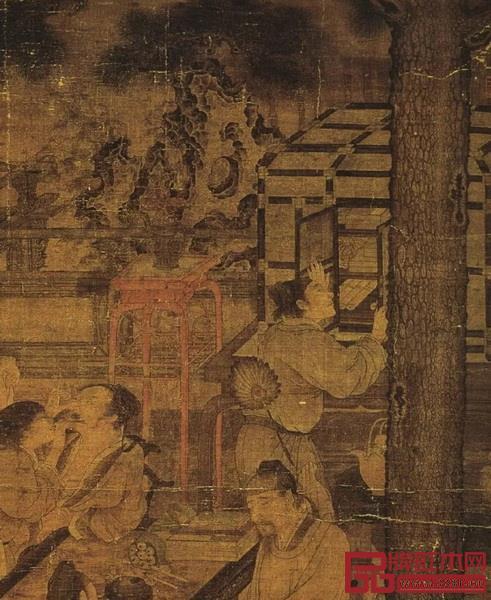 图8南宋刘松年《唐五学士图》
