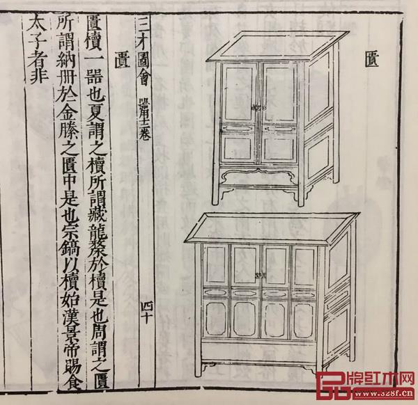 图13明《三才图会·器用十二卷》中所绘制的橱样