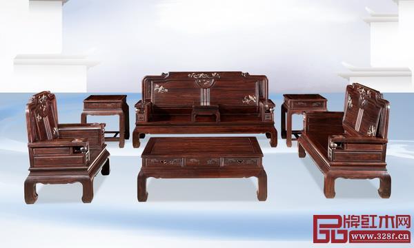 木缘红木《柬埔寨黑酸枝·万象沙发》