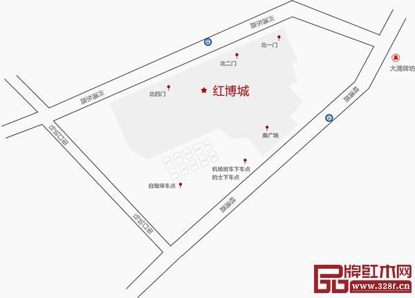 2019中山红博会会场红博城路线地图