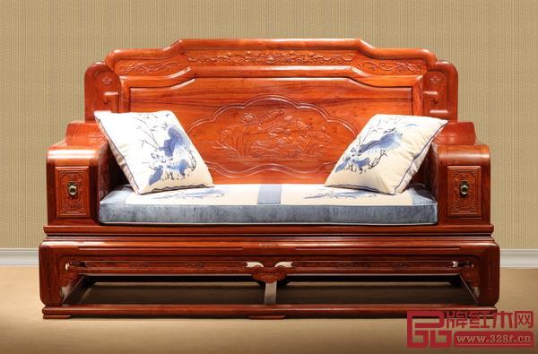东成红木《缅花荷韵沙发》