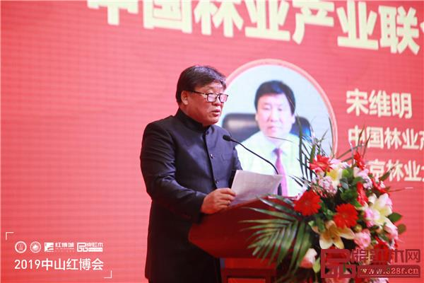 中国林业产业联合会副会长、北京林业大学原校长宋维明在2019中山红博会开幕式上致辞