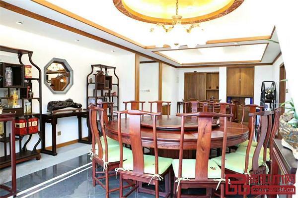 朝皇居红木私人定制餐厅空间
