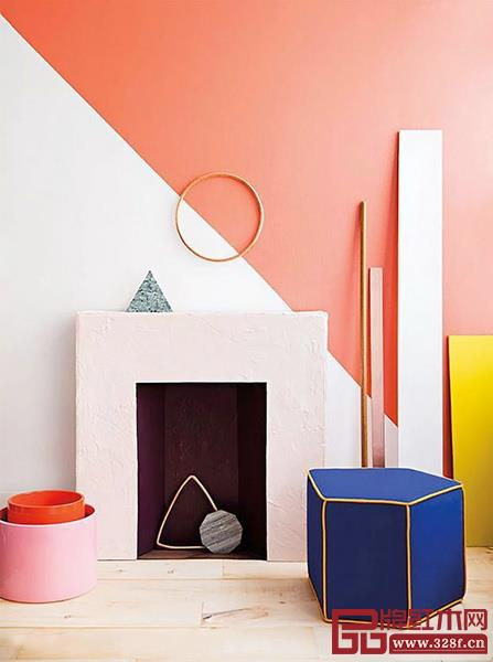 与其他配色一起打造时下流行的撞色墙,也是不错的选择
