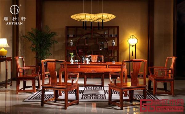 雅仕轩红木——缅甸花梨茶台