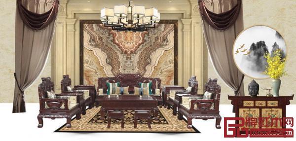 红木家具配什么颜色的窗帘好看?无论是古典风格还是新中式风格,都可以根据主要家具的木材颜色确定窗帘颜色。红木家具搭配窗帘效果图