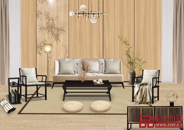 红木家具配什么颜色的窗帘好看?根据墙壁、天花板、地板选同色系。红木家具搭配窗帘效果图