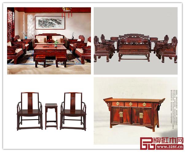 大红酸枝红木家具不仅存世量少、收藏价值高,还具有很好的保健功能