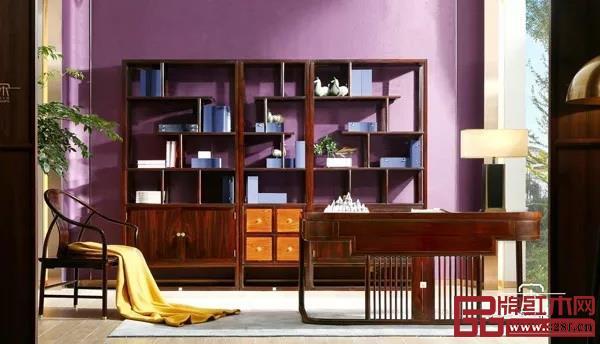 黑酸枝·当代亚博体育苹果客户端家具——东成·文宋《知境书房》系列