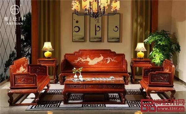 雅仕轩千赢国际入口:缅甸花梨沙发