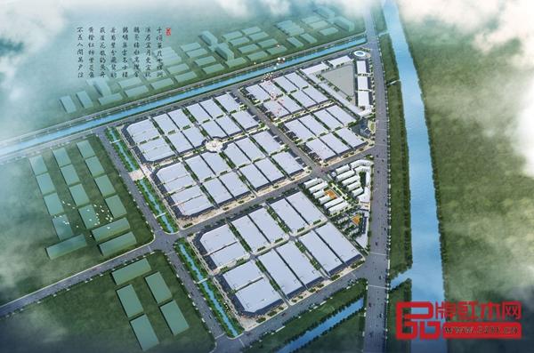 郦泰鸿红木产业园规划分布图