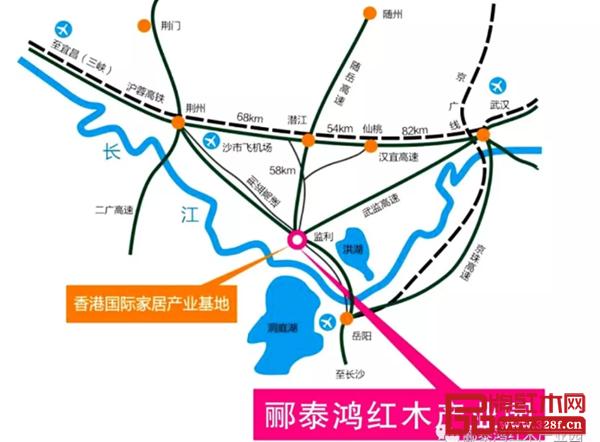 郦泰鸿红木产业园地处中部地区交通枢纽