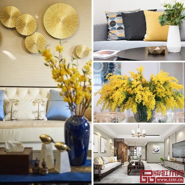 黄色的高饱和度可以为家居带来温润清新的质感