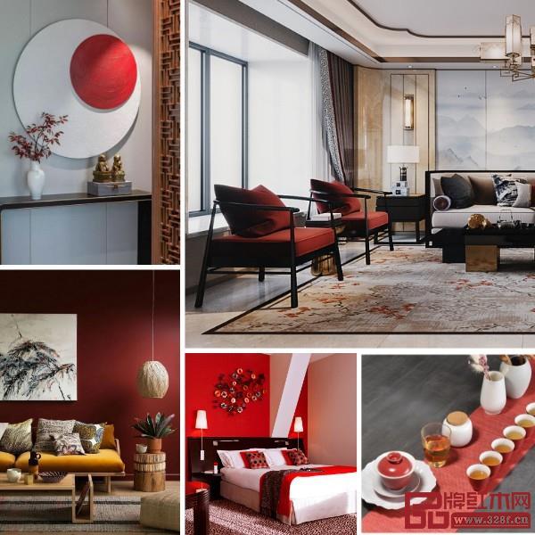 在不动声色之中,红色突显了时尚的张力,让整个空间看起来并不乏味