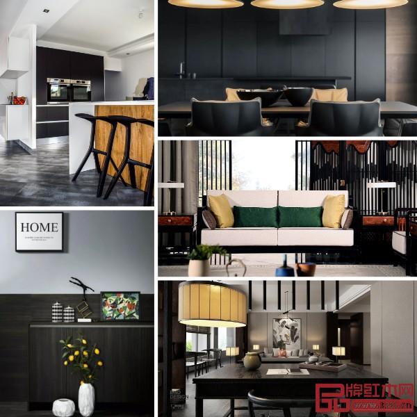 大面积使用黑色,凸显精致时尚,同时强大气场不容忽视