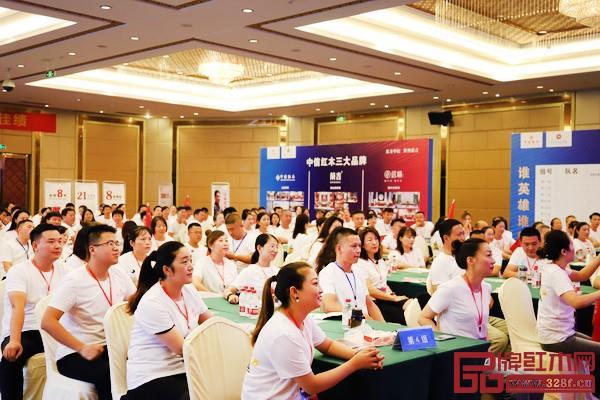 东阳中信红木每年举办经销商大会,组织销售培训大会,帮助经销商解决当前市场环境下的各种难题