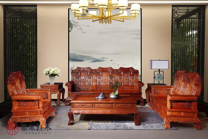 怎样判断缅甸花梨沙发椅好不好?缅甸花梨沙发椅怎样摆放